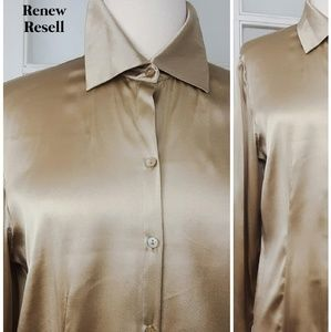 Willi Smith Button Front Blouse with Sleeve Detail